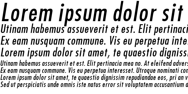 Sample of Futura Italic