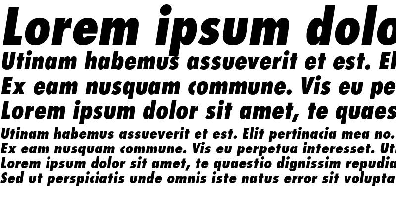 Sample of Futura LT Condensed Extra Bold Oblique