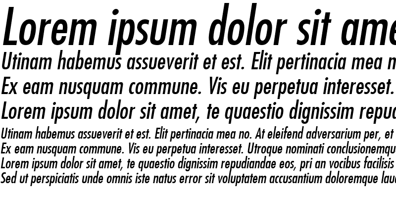 Sample of Futura MdCn BT Italic