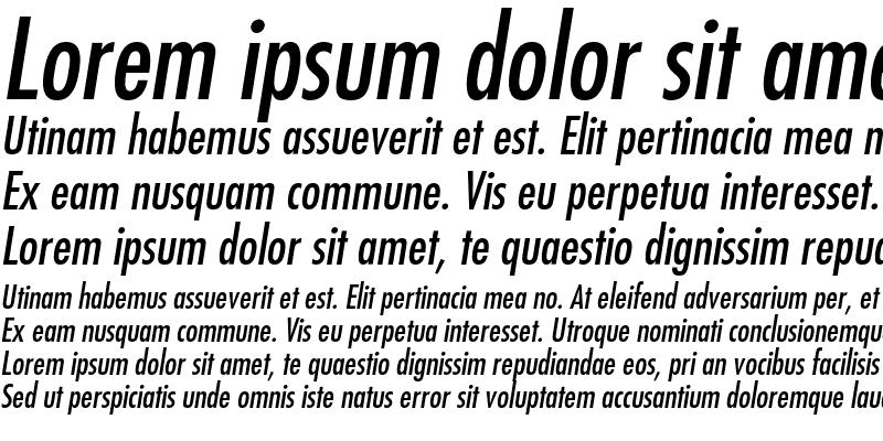Sample of Futura Medium Condensed Oblique