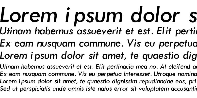 Sample of Futura-Normal-Italic