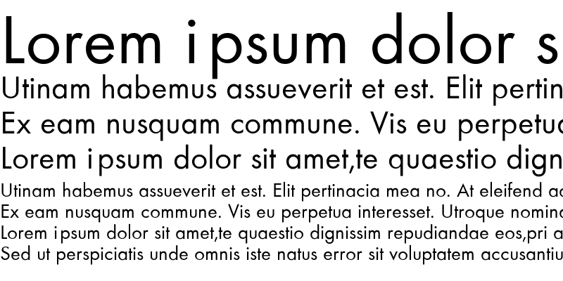 Sample of Futura-Normal Regular