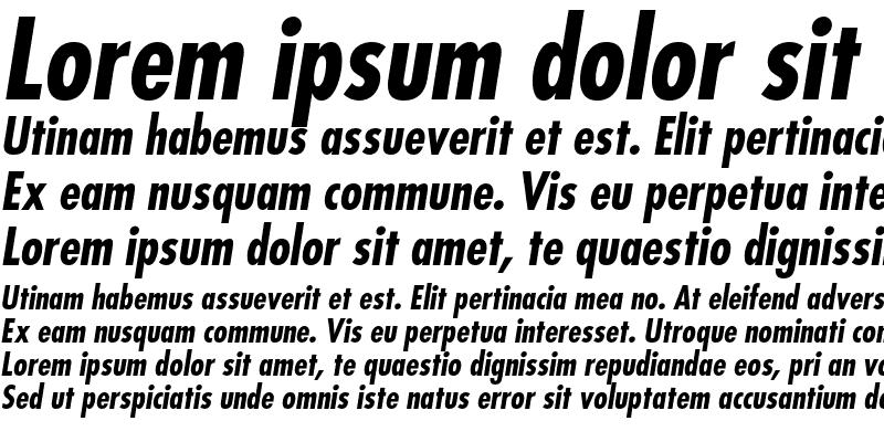 Sample of Futura Std Bold Condensed Oblique