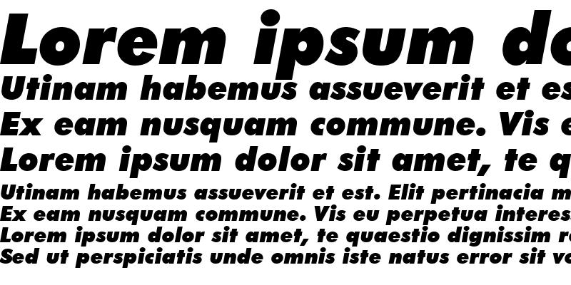Sample of Futura XBlkIt BT Extra Black Italic