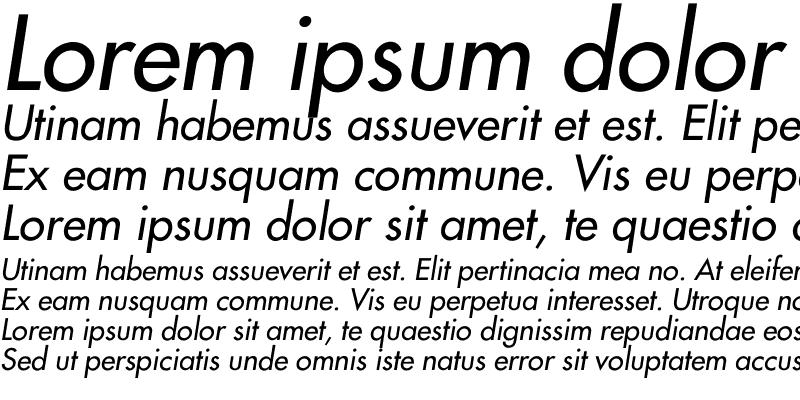 Sample of Futura2-Italic