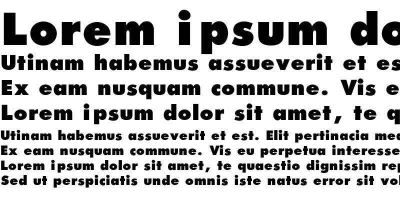 Sample of Futura_Extra_Black-Normal Regular