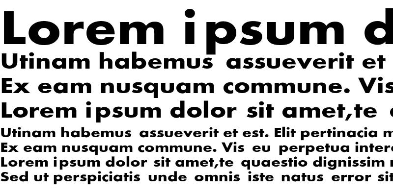 Sample of FuturaExt-Bold
