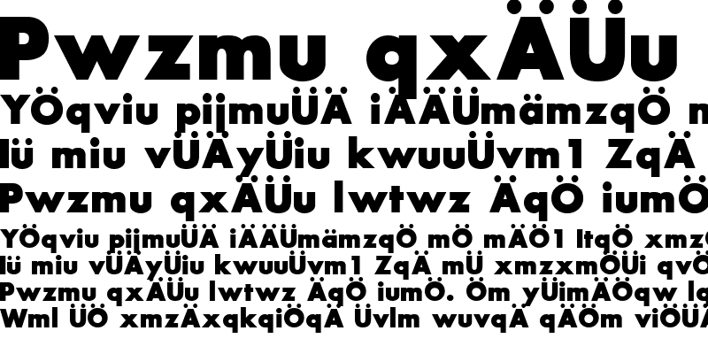 Sample of FuturaExtraBold.fog
