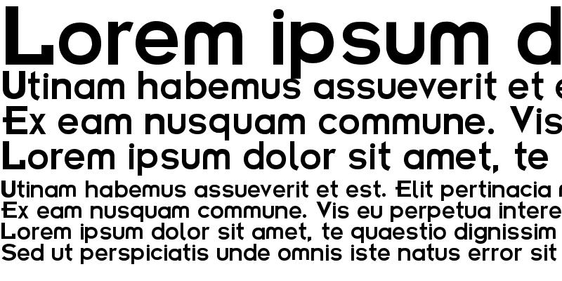 Sample of Futurama Bold Font