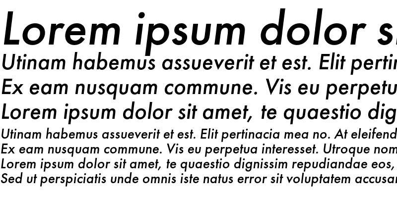 Sample of FuturaMediumC Italic