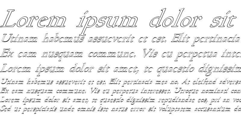 Sample of FZ ROMAN 17 HOLLOW ITALIC