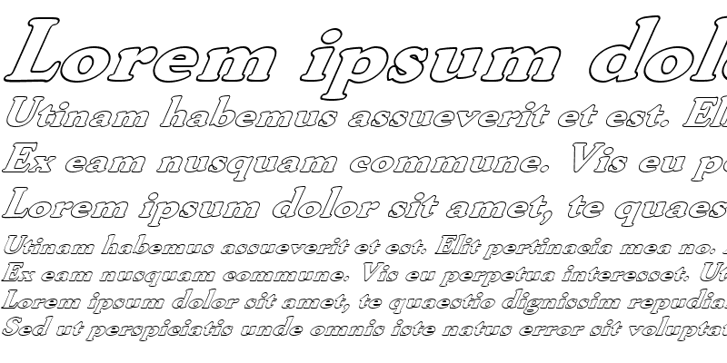 Sample of FZ ROMAN 30 HOLLOW ITALIC