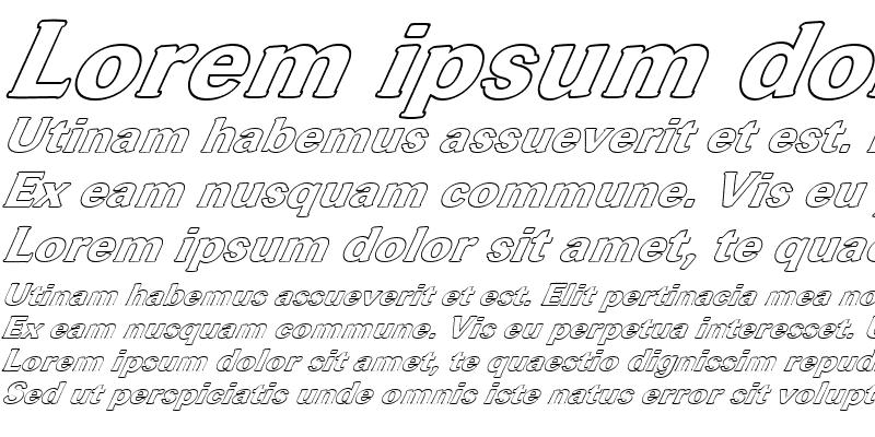 Sample of FZ ROMAN 37 HOLLOW ITALIC