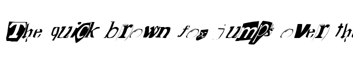 Preview of FZ WARPED 15 ITALIC Normal