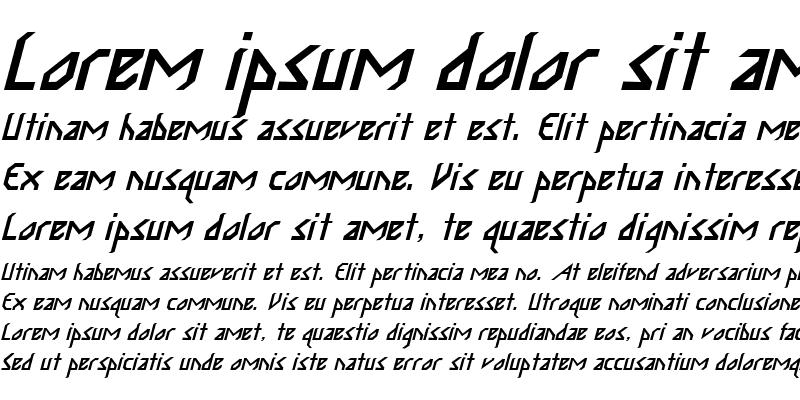 Sample of Gadda 2 Italic