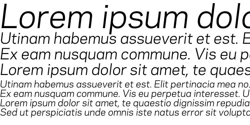 Sample of Galaxie Polaris Book Italic