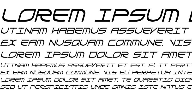 Sample of Galga Bold Condensed Italic