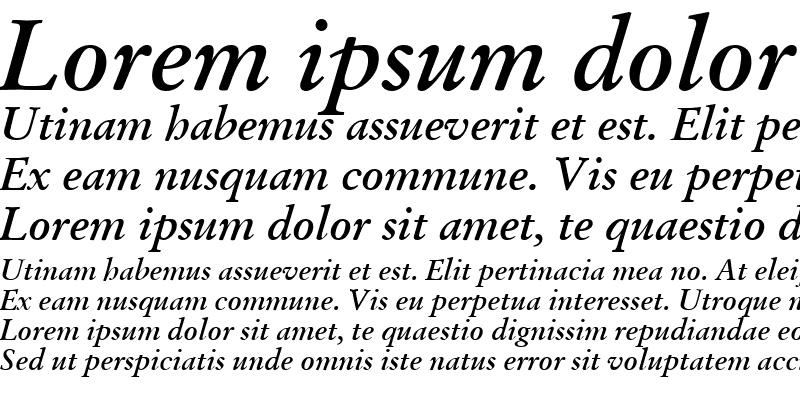 Sample of Garamand Classic Bold Italic