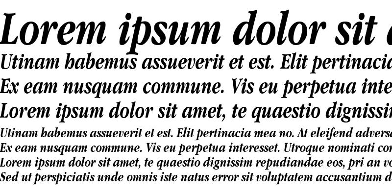 Sample of Garamand Condensed Bold Italic