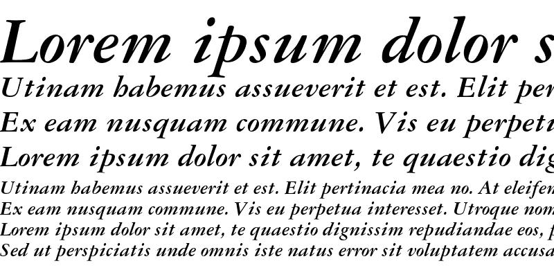 Sample of Garamond 3 Bold Italic