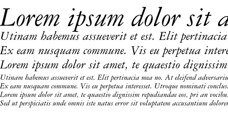 Sample of Garamond 3 Italic
