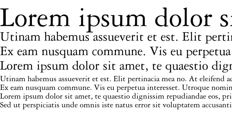 Sample of Garamond 3 Medium