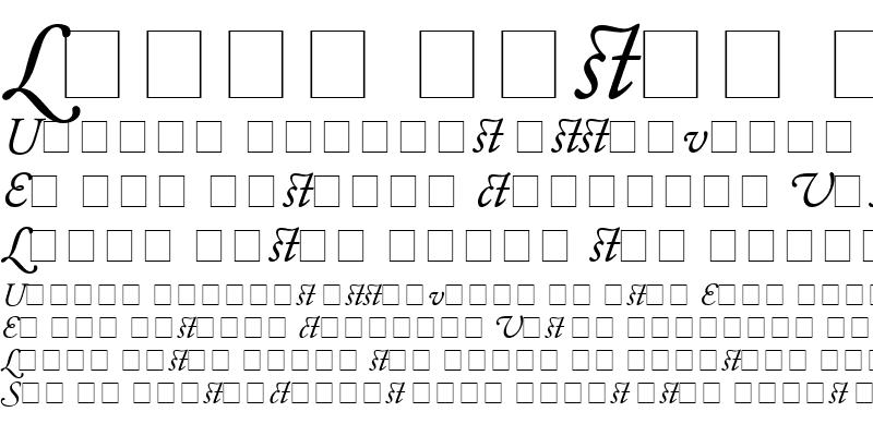 Sample of Garamond Alternate SSi Italic