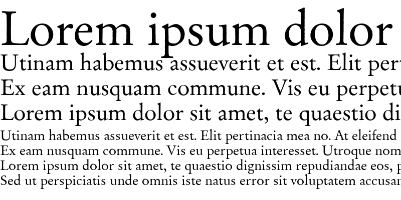 Sample of Garamond Becker No2 Regular
