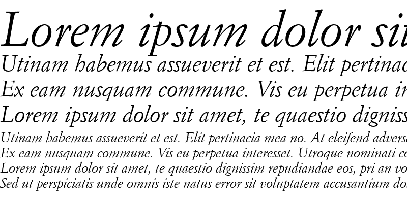 Sample of Garamond Becker No9 Italic