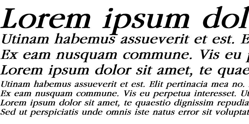 Sample of Garamond Bold Italic