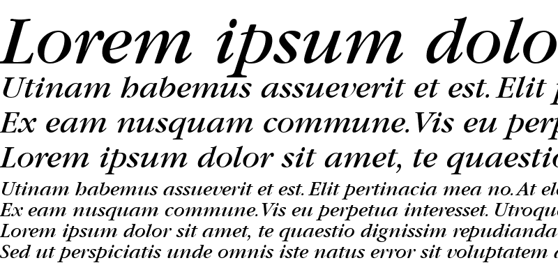 Sample of Garamond BookItalic