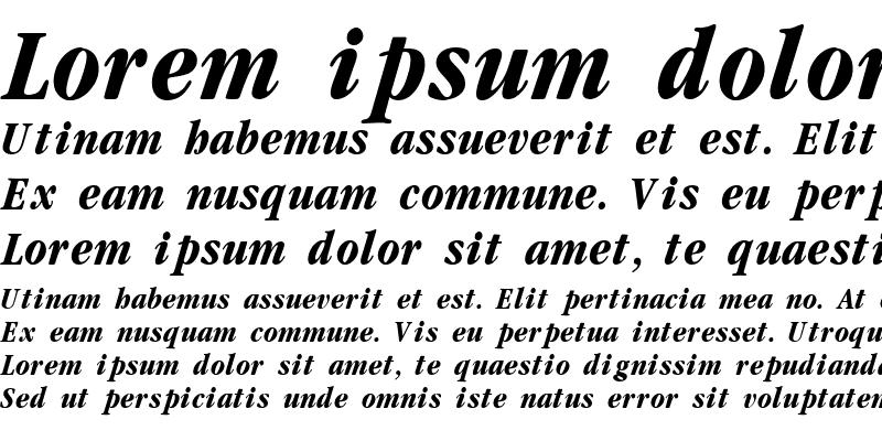 Sample of Garamond cond Bold-Italic