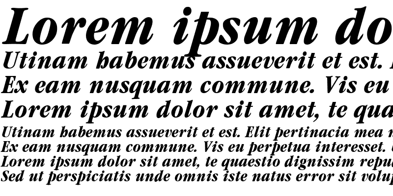 Sample of Garamond Condensed Bold Italic