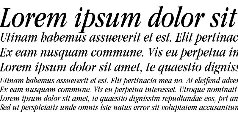 Sample of Garamond Condensed SSi Book Condensed Italic