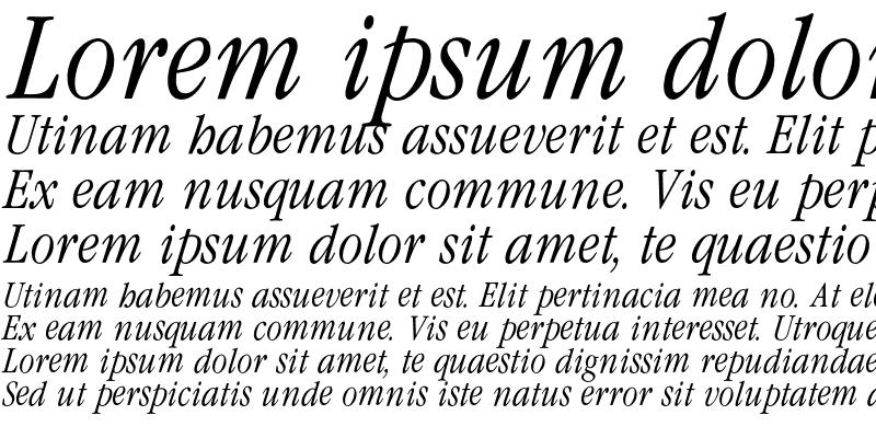 Sample of Garamond CondLight Italic