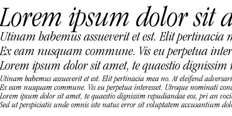 Sample of Garamond Light Condensed SSi Light Condensed Italic