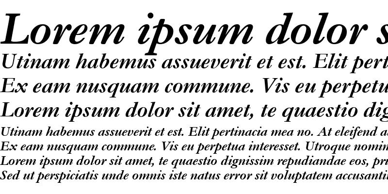 Sample of Garamond MT Bold Italic