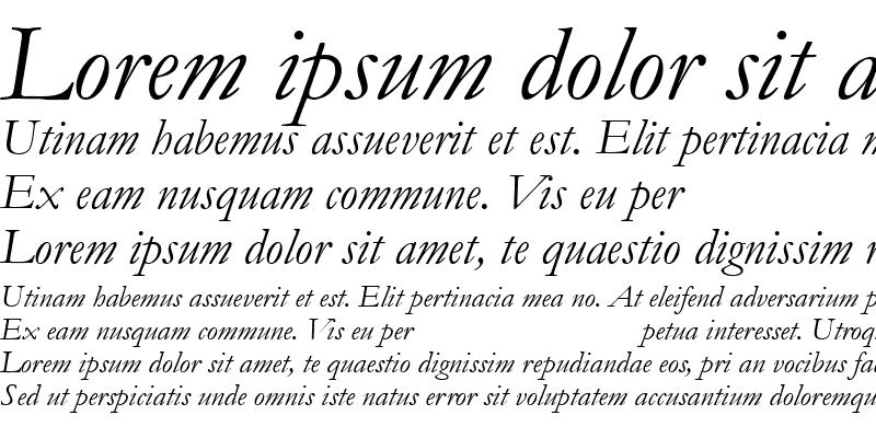 Sample of Garamond MT Italic