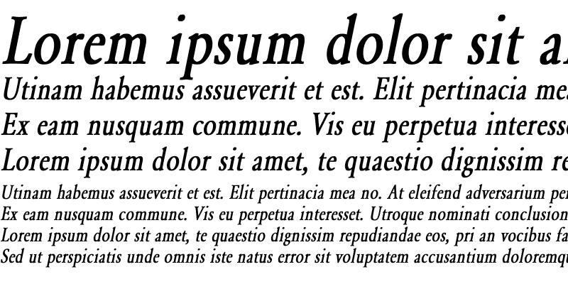 Sample of Garamond-Normal Condensed Bold Italic