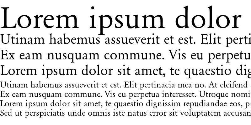 Sample of Garamond-Normal Regular