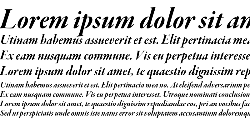 Sample of Garamond Premier Pro Bold Italic Display