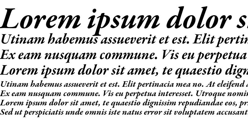 Sample of Garamond Premier Pro Bold Italic