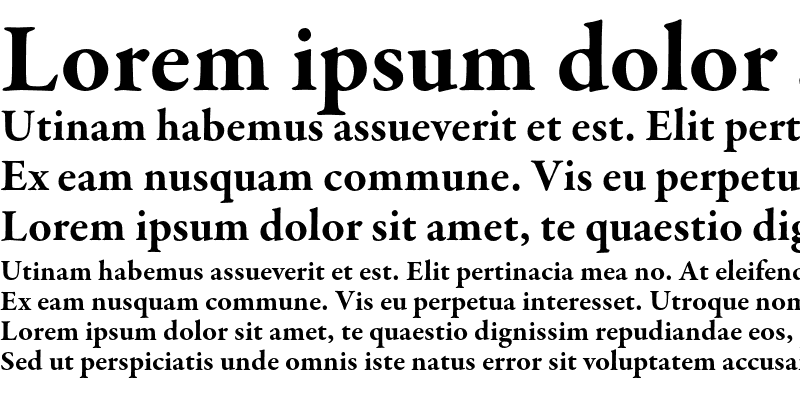Sample of Garamond Premier Pro Bold