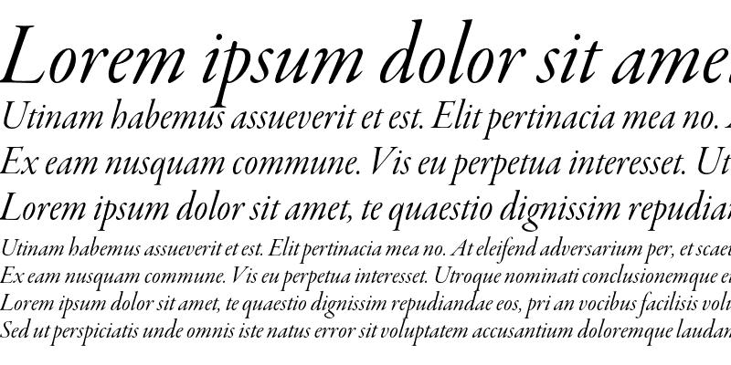 Sample of Garamond Premier Pro Italic Display