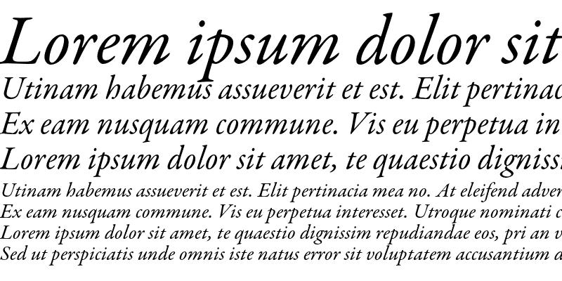 Sample of Garamond Premier Pro Italic