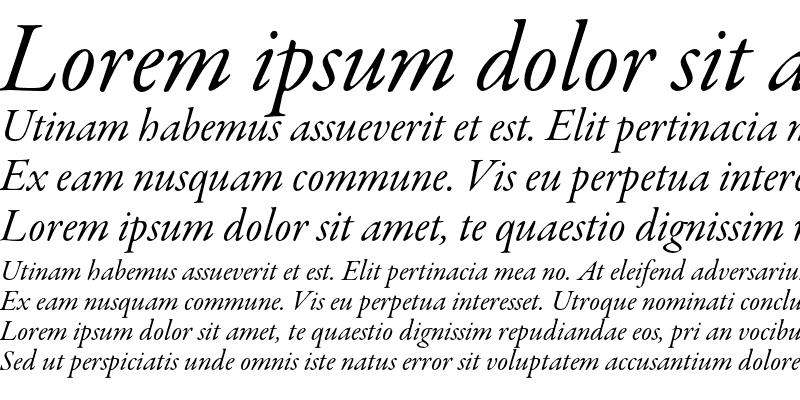 Sample of Garamond Premier Pro Italic Subhead