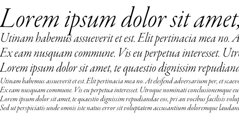 Sample of Garamond Premier Pro Light Italic Display