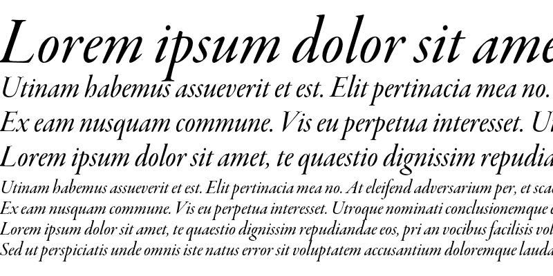 Sample of Garamond Premier Pro Medium Italic Display