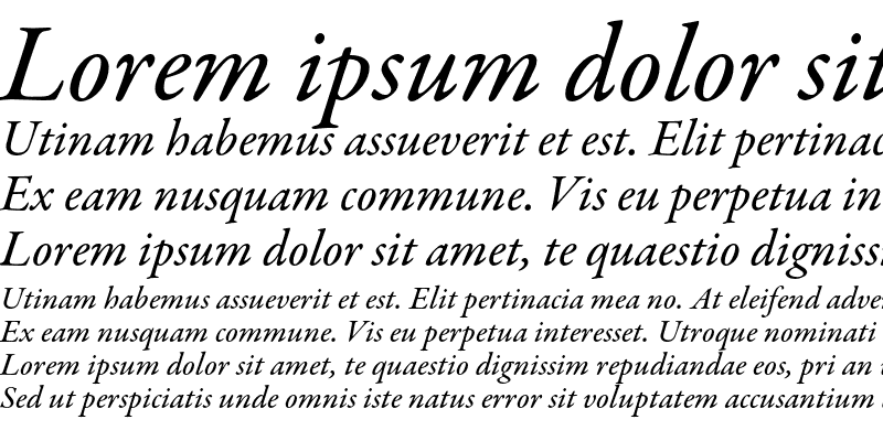 Sample of Garamond Premier Pro Medium Italic