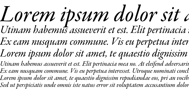 Sample of Garamond Premier Pro Medium Italic Subhead